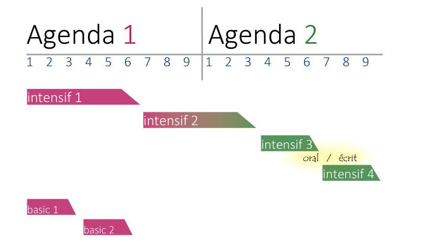 教科書「Agenda」と授業の関係図
